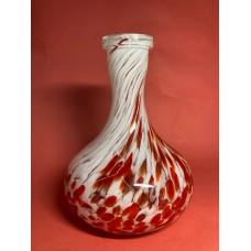Колба Glass Might Бело-красная