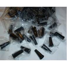 Мундштуки для кальяна наружные Чёрные гладкие (100 шт) от 10 упаковок