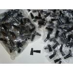 Мундштуки для кальяна наружные Чёрные со ступенькой (100 шт)
